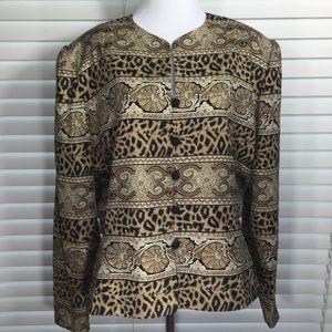 Adrianna Papell Silk Jacket Size 16